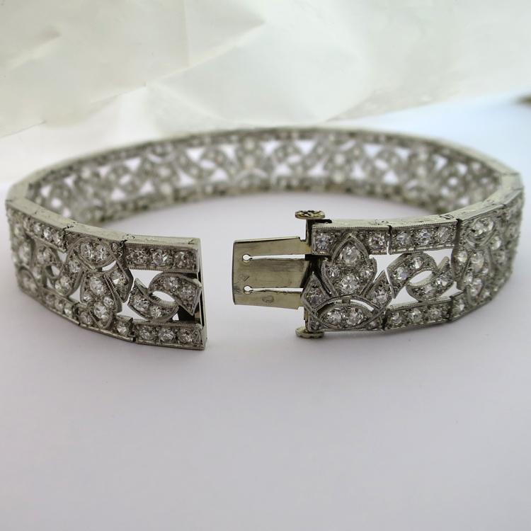 Bien-aimé Bijoux anciens d'exception à Paris - Bracelet art déco en platine  QF06