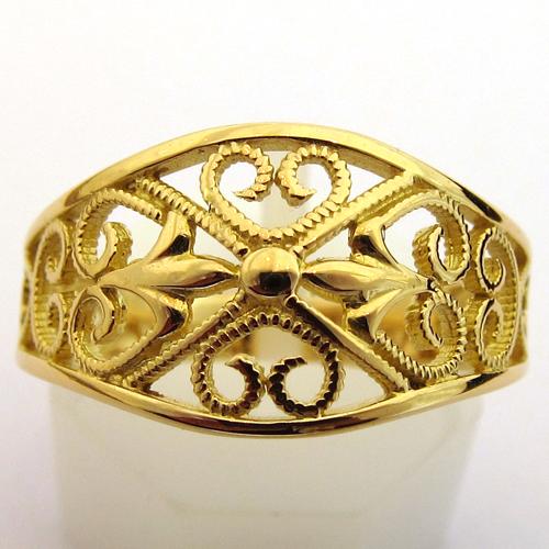 bijoux anciens d 39 occasion bague ancienne or filigrane 960 bijoux anciens paris or. Black Bedroom Furniture Sets. Home Design Ideas