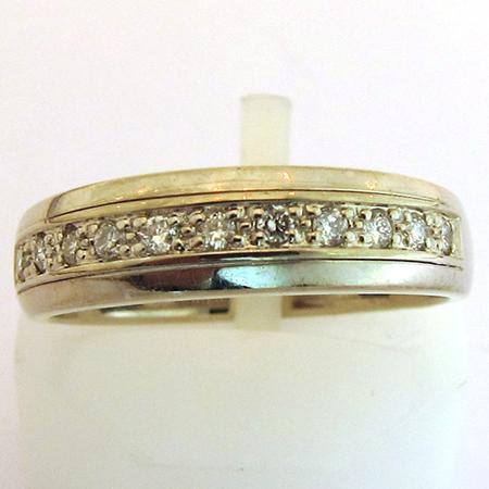 Bijoux mariage - Alliance or gris diamant 901 - Bijoux anciens Paris ...
