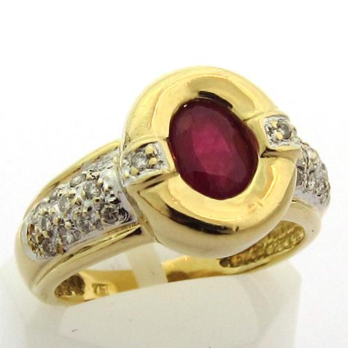 bague rubis diamants or occasion 924 bijoux anciens paris or. Black Bedroom Furniture Sets. Home Design Ideas