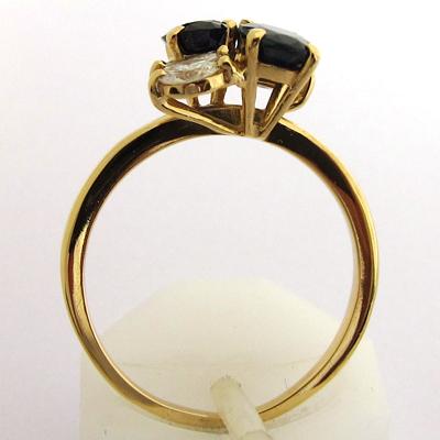 bague or saphirs diamants 804 bague de fian ailles vintage bijoux anciens paris or. Black Bedroom Furniture Sets. Home Design Ideas