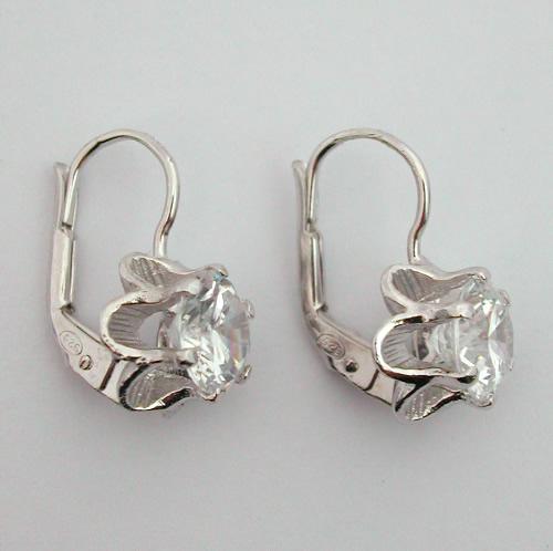 dormeuses en argent boucles d oreilles argent zirconium dormeuses 42 bijoux anciens paris. Black Bedroom Furniture Sets. Home Design Ideas