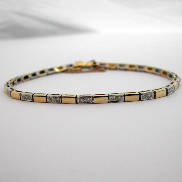 achat bijoux paris bracelet deux ors diamants 82 bijou. Black Bedroom Furniture Sets. Home Design Ideas