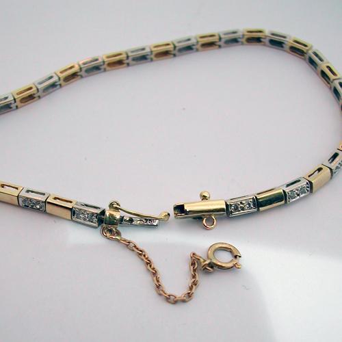 achat bijoux paris bracelet deux ors diamants 82 bijou d 39 occasion bijoux anciens paris or. Black Bedroom Furniture Sets. Home Design Ideas