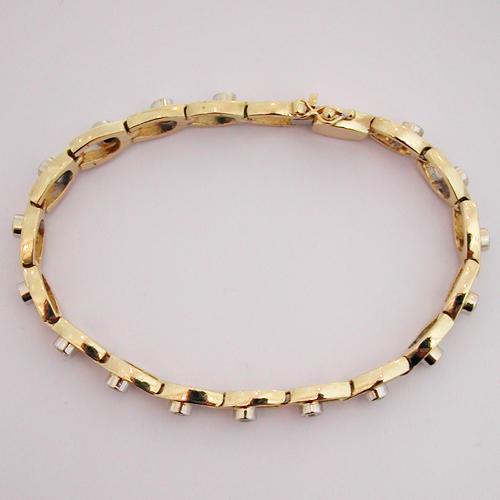 Bracelet or et diamant d'occasion