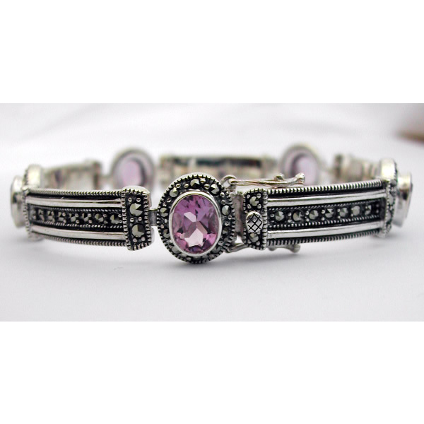 Bien-aimé Bracelet argent améthyste 70 – Bijou de style Art Déco : Bijoux  QF06
