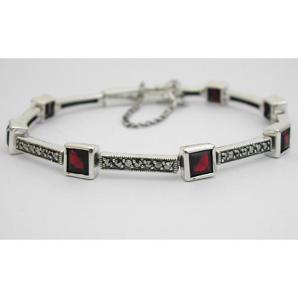 bracelet argent marcassite