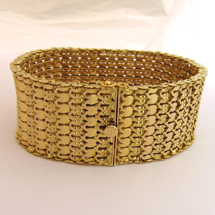 bijoux f minins bracelet or femme 145 bijoux anciens paris. Black Bedroom Furniture Sets. Home Design Ideas