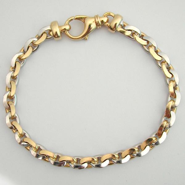 Bracelet or jaune blanc