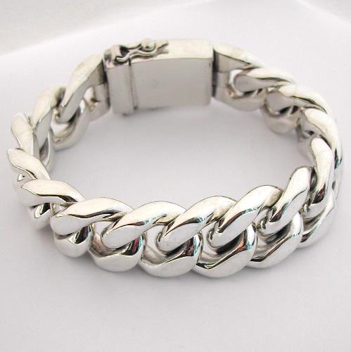 bracelet gourmette en argent massif 61 bijoux anciens paris argent. Black Bedroom Furniture Sets. Home Design Ideas
