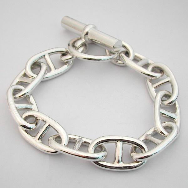 bracelet argent massif maille marine 62 bijoux anciens paris argent. Black Bedroom Furniture Sets. Home Design Ideas