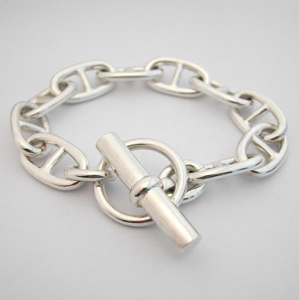 bracelet argent maille marine bijoux sur enperdresonlapin. Black Bedroom Furniture Sets. Home Design Ideas