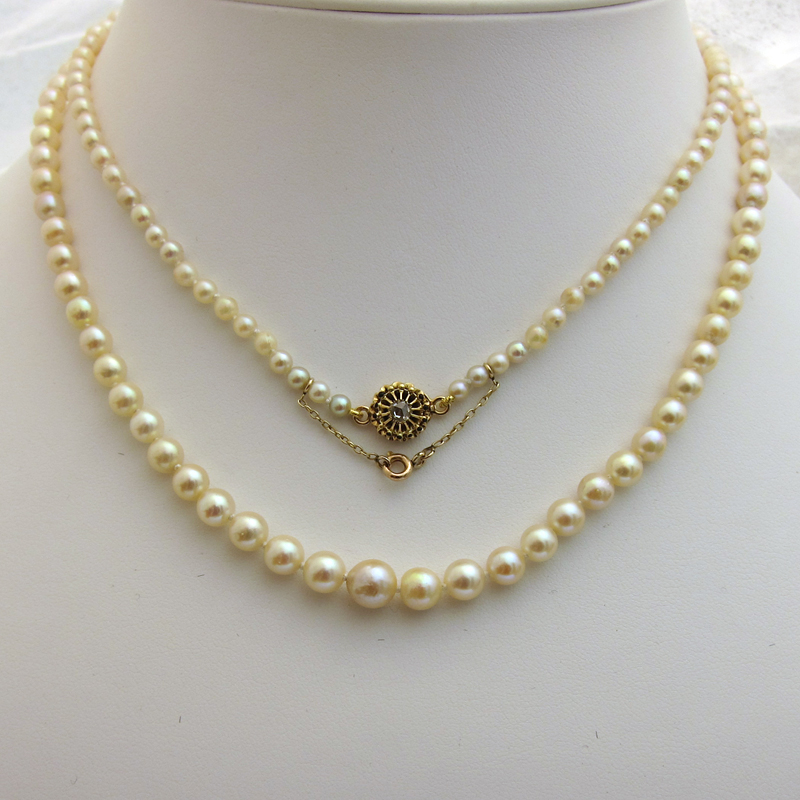 collier de perles de culture 164 bijoux anciens paris or. Black Bedroom Furniture Sets. Home Design Ideas