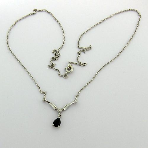 collier saphir diamant or blanc 114 bijoux d 39 occasion paris bijoux anciens paris or. Black Bedroom Furniture Sets. Home Design Ideas