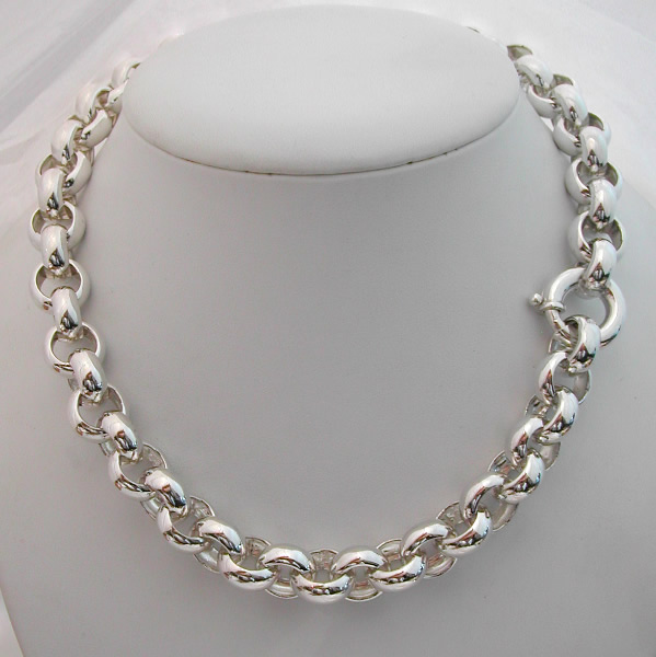 collier argent maille