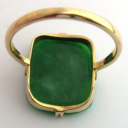 bague jade 1043 bijoux anciens paris or. Black Bedroom Furniture Sets. Home Design Ideas