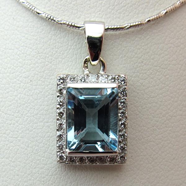 pendentif or aigue marine diamants 128 bijoux anciens paris or. Black Bedroom Furniture Sets. Home Design Ideas