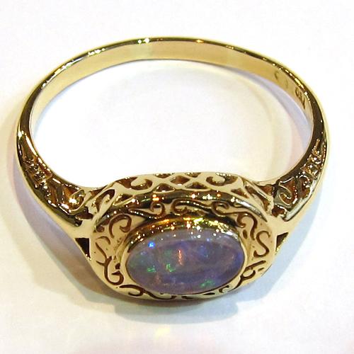 opales bague opale or jaune 903 bijoux anciens paris. Black Bedroom Furniture Sets. Home Design Ideas
