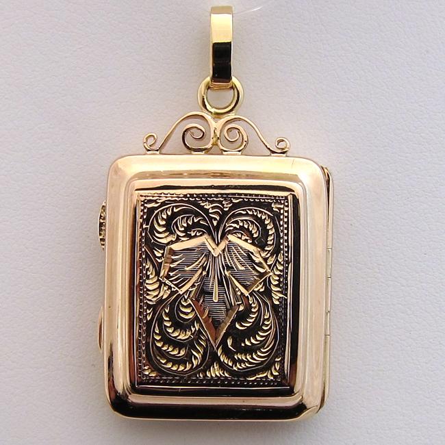 pendentif porte photo ancien 221 bijoux anciens paris or. Black Bedroom Furniture Sets. Home Design Ideas