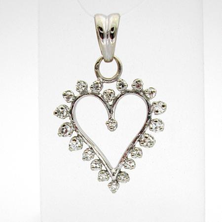 cadeau de f te des m res ou saint valentin bijoux paris pendentif or gris diamants c ur 153. Black Bedroom Furniture Sets. Home Design Ideas