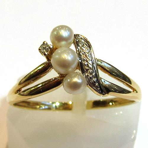 perles bague or perles diamants 910 bijou d 39 occasion bijoux anciens paris or. Black Bedroom Furniture Sets. Home Design Ideas